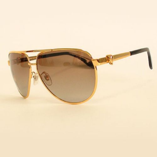 Alexander McQueen AMQ 4156S 004jj gold brown