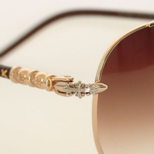 Chrome Hearts S-GD QANCHER gold brown