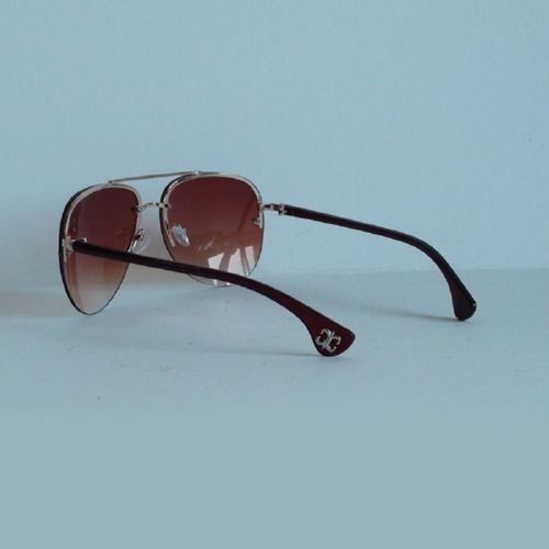 Chrome Hearts Aviator silver brown