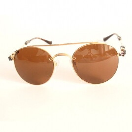 Chrome Hearts MAG-P BUBBA gold brown