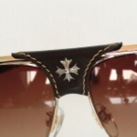 Chrome Hearts SBD XYKCHER gold brown