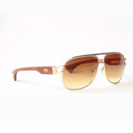 Chrome Hearts MBKC WEB THE BRIWN gold brown