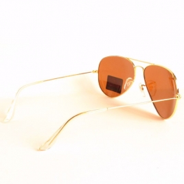 Ray Ban RB3025 Aviator Classic gold zer brown